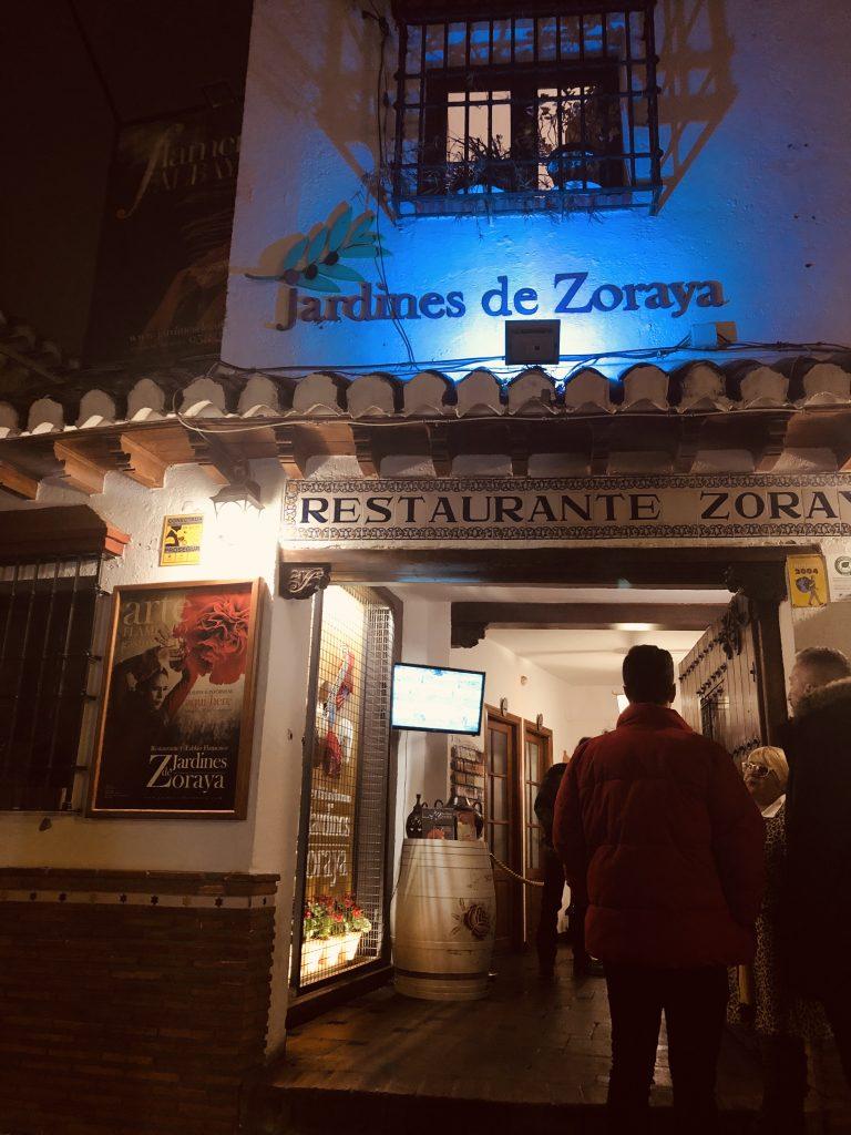 Exterior of Jardines de Zoraya flamenco tablo, Granada