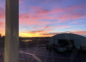 Sunrise at Stockholm Arlanda airport
